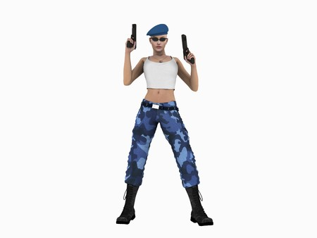 corps: Soldier woman
