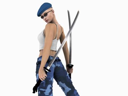 군인 여자 스톡 콘텐츠