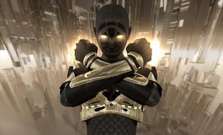 Cyborg warrior Banco de Imagens