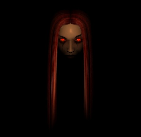 3d illustration of a dark woman
