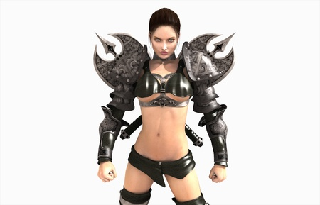 3d illustration of a barbarian woman illustration