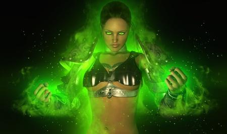 warriors: magical warrior woman