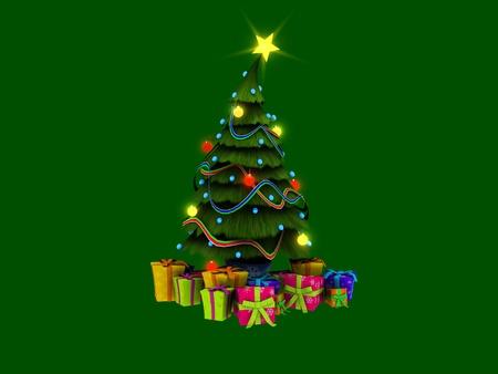 christmas tree and presents Фото со стока