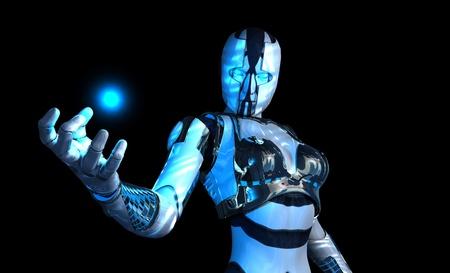 geavanceerde cyborg soldaat Stockfoto