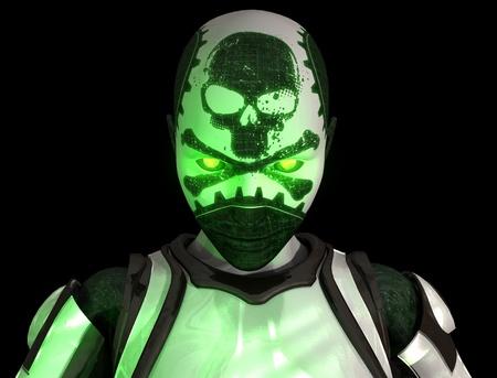 Bio warfare cyborg soldier photo