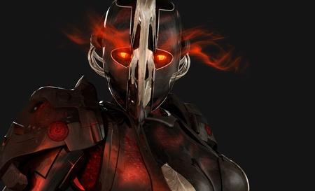 mech: Advanced cyborg soldier Stock Photo