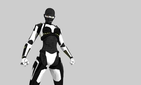 Cyborg character photo