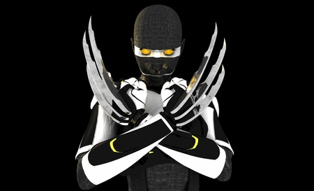 Cyborg character Banco de Imagens