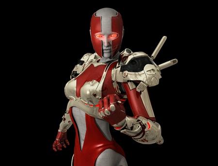 Advanced cyborg soldier Banco de Imagens