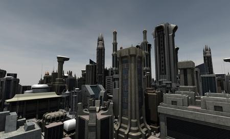 future city: Futuristic city