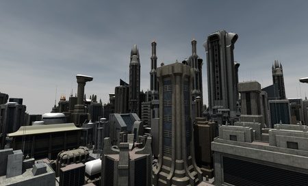 city building: Futuristic city