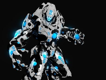 Slag bij robot Stockfoto