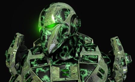 scifi: Future soldier in advanced armor