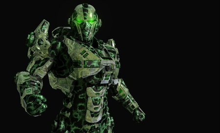 the advanced: Future soldier in advanced armor
