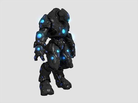 Battle robot Stock Photo