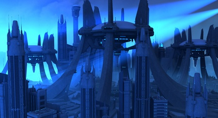 city building: Futuristic city