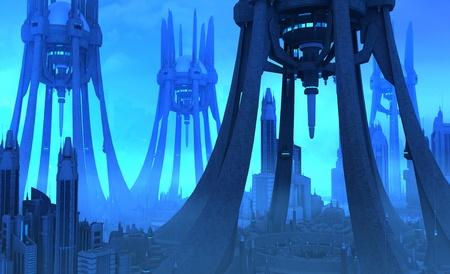 scraper: Futuristic city