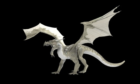 render: White dragon