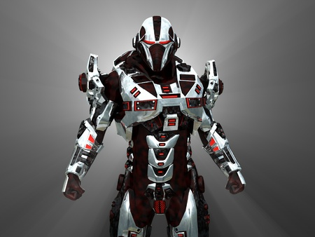 fantasy warrior: Advanced futuristic soldier