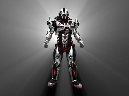 Geavanceerde futuristische soldaat