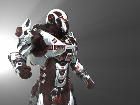 robot: Zaawansowane futurystyczny żoÅ'nierz Zdjęcie Seryjne