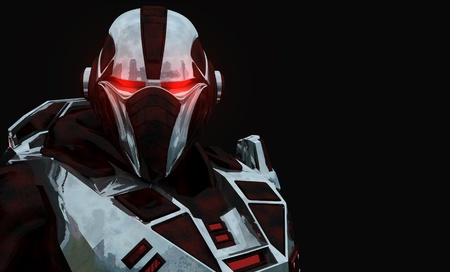 Advanced futuristic soldier