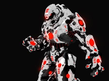 Futuristische slag robot Stockfoto