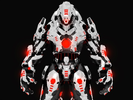 Futuristic battle robot Stock Photo - 10340367