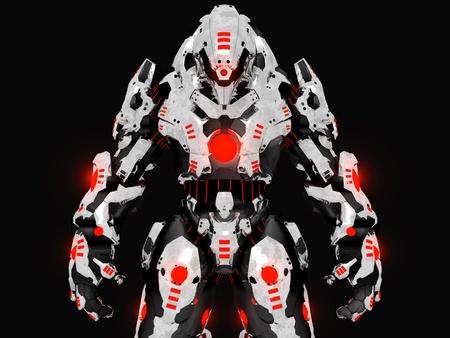 Futuristic battle robot Banco de Imagens - 10340367