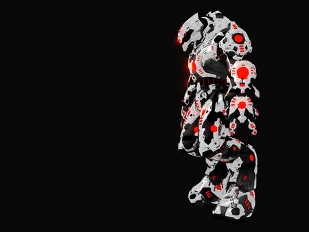 Futuristic battle robot photo