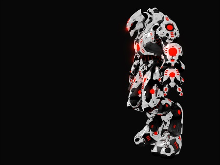 chrome man: Futuristic battle robot