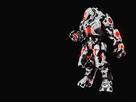 미래의 전투 로봇 스톡 콘텐츠