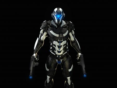 futuristische soldaat
