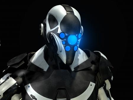 Futuristic soldier Banco de Imagens - 14334878