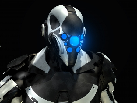 Soldado futurista Banco de Imagens