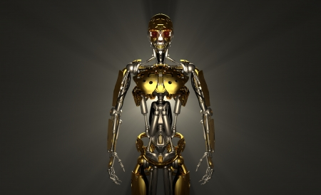 trooper: Advanced robot Stock Photo