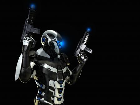 trooper: super soldier Stock Photo