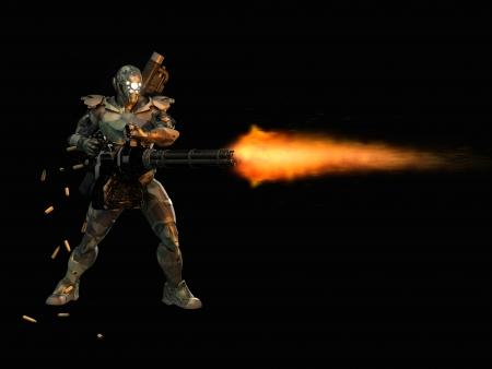 trooper: Advanced super soldier Stock Photo