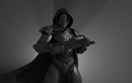 Geavanceerde stealth soldaat Stockfoto