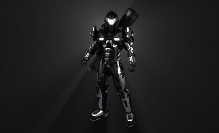 Geavanceerde super soldaat Stockfoto