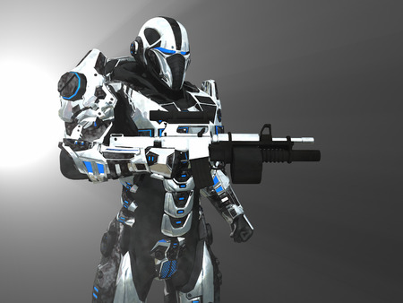 armour: Advanced super soldier Stock Photo