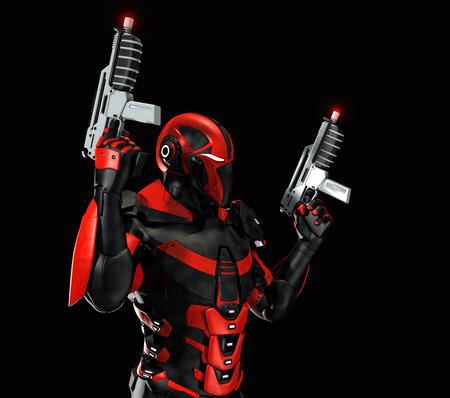 bionic: Advanced super soldier Stock Photo