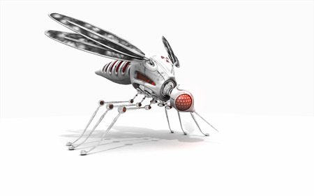 3d render of a cyber mosquito