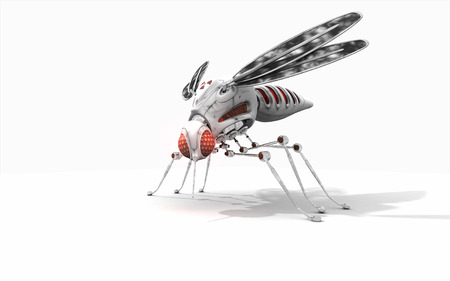 3d render of a cyber mosquito photo