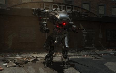 mech: 3d render of a battle mech