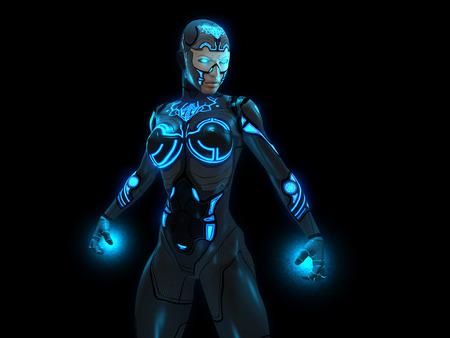 mech: cyborg woman