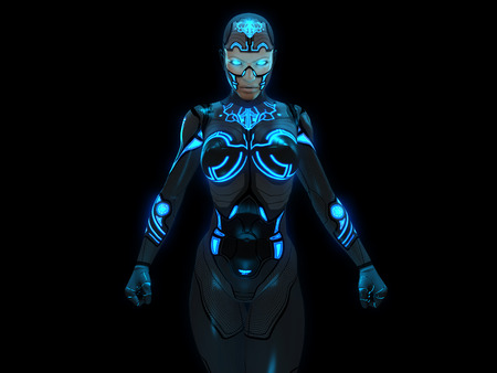 Cyborg woman photo