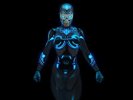 Cyborg woman Banco de Imagens