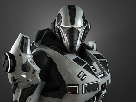 mech: Advanced super soldier Stock Photo