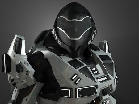 Advanced super soldier Reklamní fotografie